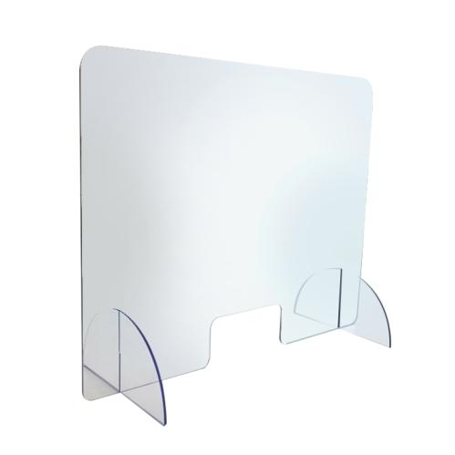 CLEAR ACRYLIC FREE STANDING PROTECTION SCREEN 800x1200mm