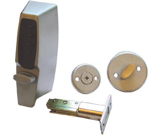 Kaba 7102 Deadbolt Digital Door Lock Satin Chrome